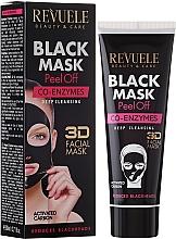 Düfte, Parfümerie und Kosmetik Schwarze Peel-Off Gesichtsmaske mit Coenzym Q10 - Revuele Black Mask Peel Off Co-Enzymes