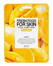 Düfte, Parfümerie und Kosmetik Pflegende Tuchmaske für das Gesicht mit Mangoextrakt - Superfood for Skin Farmskin Fresh Food Mango Mask