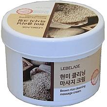 Düfte, Parfümerie und Kosmetik Reinigende Massagecreme mit braunem Reis - Lebelage Brown Rice Cleaning Massage Cream