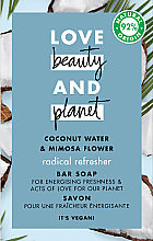 Düfte, Parfümerie und Kosmetik Blockseife mit Kokosnusswasser und Mimosenblume - Love Beauty&Planet Coconut Water & Mimosa Flower Bar Soap