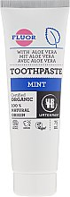 Düfte, Parfümerie und Kosmetik Organische Zahnpasta mit Minze und Fluorid für ein strahlend gesundes Lächeln - Urtekram Mint Toothpaste