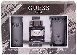 Düfte, Parfümerie und Kosmetik Guess 1981 For Men - Duftset (Eau de Toilette/100ml + Duschgel/200ml + Deodorant/226ml)