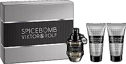 Düfte, Parfümerie und Kosmetik Viktor & Rolf Spicebomb - Duftset (Eau de Toilette 50ml + After Shave Balsam 50ml + Rasiercreme 50ml)