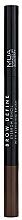 Düfte, Parfümerie und Kosmetik Augenbrauenstift - MUA Brow Define Eyebrow Pencil With Blending Brush