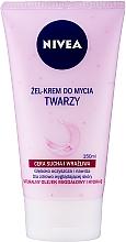 Düfte, Parfümerie und Kosmetik Pflegende Gesichtswaschcreme mit natürlichem Mandelöl für trockene und empfindliche Haut - Nivea Visage Cleansing Soft Cream Gel