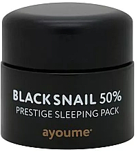 Düfte, Parfümerie und Kosmetik Intensiv regenerierende Anti-Falten Gesichtsmaske für die Nacht mit schwarzem Schneckenschleimfiltrat - Ayoume Black Snail Prestige Sleeping Pack