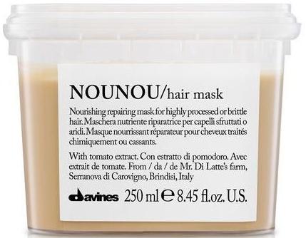 Pflegende regenerierende und schützende Maske mit Tomatenextrakt für brüchiges, trockenes und behandeltes Haar - Davines Nounou Nourishing Reparing Mask — Bild N1