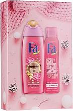 Düfte, Parfümerie und Kosmetik Körperpflegeset - Fa Pink Passion (Duschgel 250ml + Deospray 150ml)