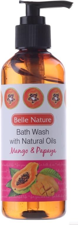 Duschgel mit Mango und Papaya - Belle Nature Bath Wash Mango&Papaya