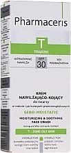 Düfte, Parfümerie und Kosmetik Feuchtigkeitsspendende und beruhigende Gesichtscreme während und nach der Aknebehandlung SPF 30 - Pharmaceris T Sebo-Moistatic Cream SPF30