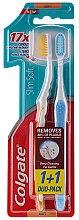 """Düfte, Parfümerie und Kosmetik Zahnbürsten-Set """"Slim Soft"""", Gelb + Blau - Colgate Toothbrush"""