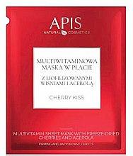 Düfte, Parfümerie und Kosmetik Tuchmaske mit Vitaminen und Acerola - APIS Professional Cherry Kiss Multivitamin Sheet Mask