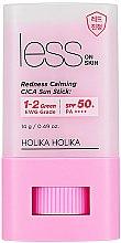 Sonnenschutz-Stick LSF 50+ - Holika Holika Less on Skin Redness Calming CICA Sun Stick SPF50+ — Bild N1