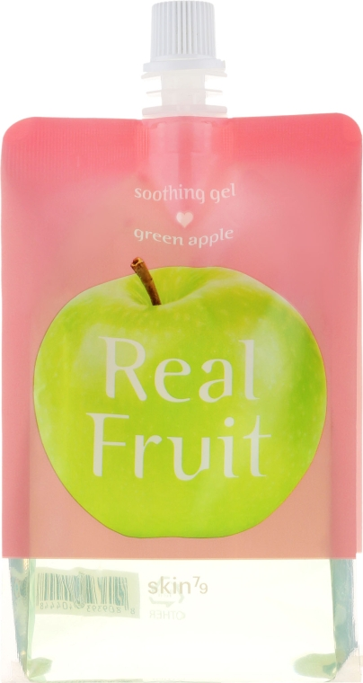 Beruhigendes Gesichtsgel mit grünem Apfelsaftextrakt - Skin79 Real Fruit Soothing Gel Green Apple
