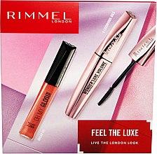 Düfte, Parfümerie und Kosmetik Make-up Set (Wimperntusche 11ml + Lipgloss 6,5ml) - Rimmel Feel The Luxe
