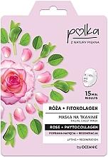 Düfte, Parfümerie und Kosmetik Regenerierende Lifting-Tuchmaske mit Rose und Kollagen - Polka Rose And Phytocollagen Facial Sheet Mask