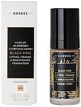 Düfte, Parfümerie und Kosmetik Straffende und aufhellende Foundation - Korres Black Pine Lifting, Firming & Brightening Foundation