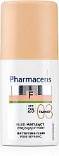 Düfte, Parfümerie und Kosmetik Mattierende Foundation zur Porenverfeinerung SPF 25 - Pharmaceris F Mattifying Fluid Pore Refining SPF 25