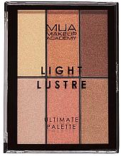Düfte, Parfümerie und Kosmetik Make-up Palette - MUA Light Lustre Ultimate Palette  Bronze, Blush, Highlight