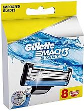 Düfte, Parfümerie und Kosmetik Ersatzbare Rasierklingen 8 St. - Gillette Mach3 Start