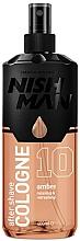 Düfte, Parfümerie und Kosmetik After Shave Cologne mit würzigem, blumig-fruchtigem Duft - Nishman Amber Cologne No.10