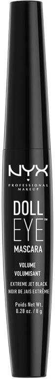 Wimperntusche für mehr Volumen - NYX Professional Makeup Doll Eye Mascara Volume — Bild N1