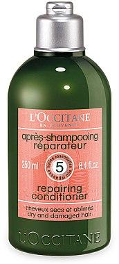 Regenerierende und reparierende Haarspülung mit ätherischen Ölen - L'Occitane Aromachologie Repairing Conditioner — Bild N1
