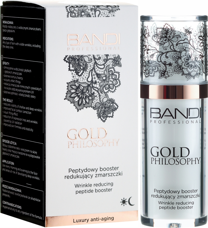 Anti-Falten Gesichtsbooster mit Peptiden - Bandi Professional Gold Philosophy Wrinkle Reducing Peptide Booster