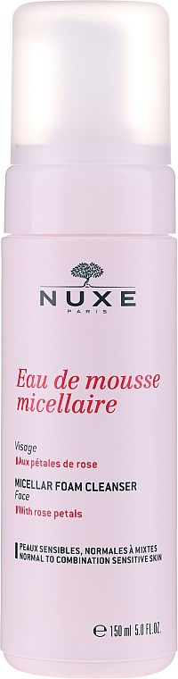 Mizellen-Reinigungsmousse mit Rosenblüttenblättern - Nuxe Micellar Foam Cleanser With Rose Petals — Bild N1