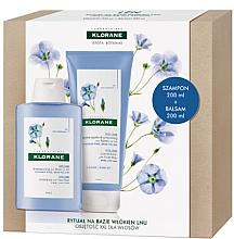 Düfte, Parfümerie und Kosmetik Haarpflegeset - Klorane Flax Fiber (Shampoo 200ml + Conditioner 200ml)
