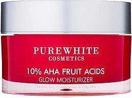 Düfte, Parfümerie und Kosmetik Feuchtigkeitsspendende und glättende Gesichtscreme mit 10% Alphahydroxysäuren und sanftem Peeling-Effekt - Pure White Cosmetics 10% AHA Fruit Acids Glow Moisturizer
