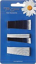 Düfte, Parfümerie und Kosmetik Haarnadeln weiß-schwarz 24 St. - Top Choice