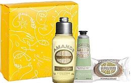Düfte, Parfümerie und Kosmetik Körperpflegeset - L'Occitane Almond (Duschöl 75ml + Handcreme 30ml + Seife 50g + Box)