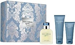 Düfte, Parfümerie und Kosmetik Dolce & Gabbana Light Blue Pour Homme - Duftset (Eau de Toilette/125ml + Duschgel/ 50ml + After Shave Balsam/75ml)