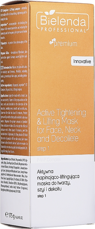 Straffende Maske für Gesicht, Hals und Dekollete - Bielenda Professional Premium Total Lifting PPV+ Mask