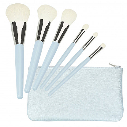 Make-up Pinselset 6 St. blau - Tools For Beauty Set Of 6 Make-Up Brushes