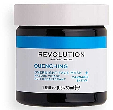 Düfte, Parfümerie und Kosmetik Feuchtigkeitsspendende und pflegende Nachtmaske für das Gesicht - Revolution Skincare Thirsty Mood Quenching Moisturizing Night Facial Mask