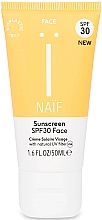 Düfte, Parfümerie und Kosmetik Sonnenschutzcreme für das Gesicht SPF 30 - Naif Sunscreen Face Spf30