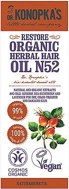 Haaröl für strapaziertes Haar - Dr. Konopka's Herbal Hair N52 Restore Oil — Bild N2