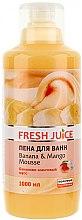 Düfte, Parfümerie und Kosmetik Schaumbad mit Bananen- und Mangomousse - Fresh Juice Banana and Mango Mousse