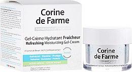 Düfte, Parfümerie und Kosmetik Erfrischende feuchtigkeitsspendende Gesichtsgel-Creme für normale und Mischhaut - Corine de Farme
