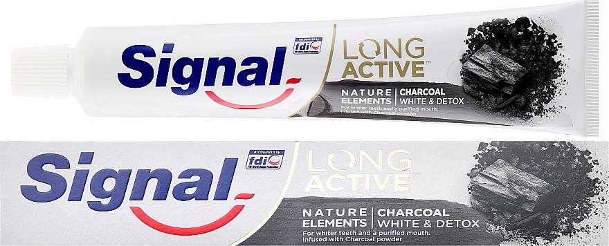 Zahnpasta mit Aktivkohle Long Active - Signal Long Active Nature Elements Charcoal