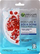 Düfte, Parfümerie und Kosmetik Feuchtigkeitsspendende Gesichtsmaske - Garnier Skin Active Moisture + Aqua Bomb Tissue Mask