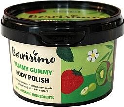 Düfte, Parfümerie und Kosmetik Körperpeeling mit Bambuspulver, Kiwiextrakt, Traubenkernöl und Erdbeersamen - Berrisimo Yummy Gummy Body Polish