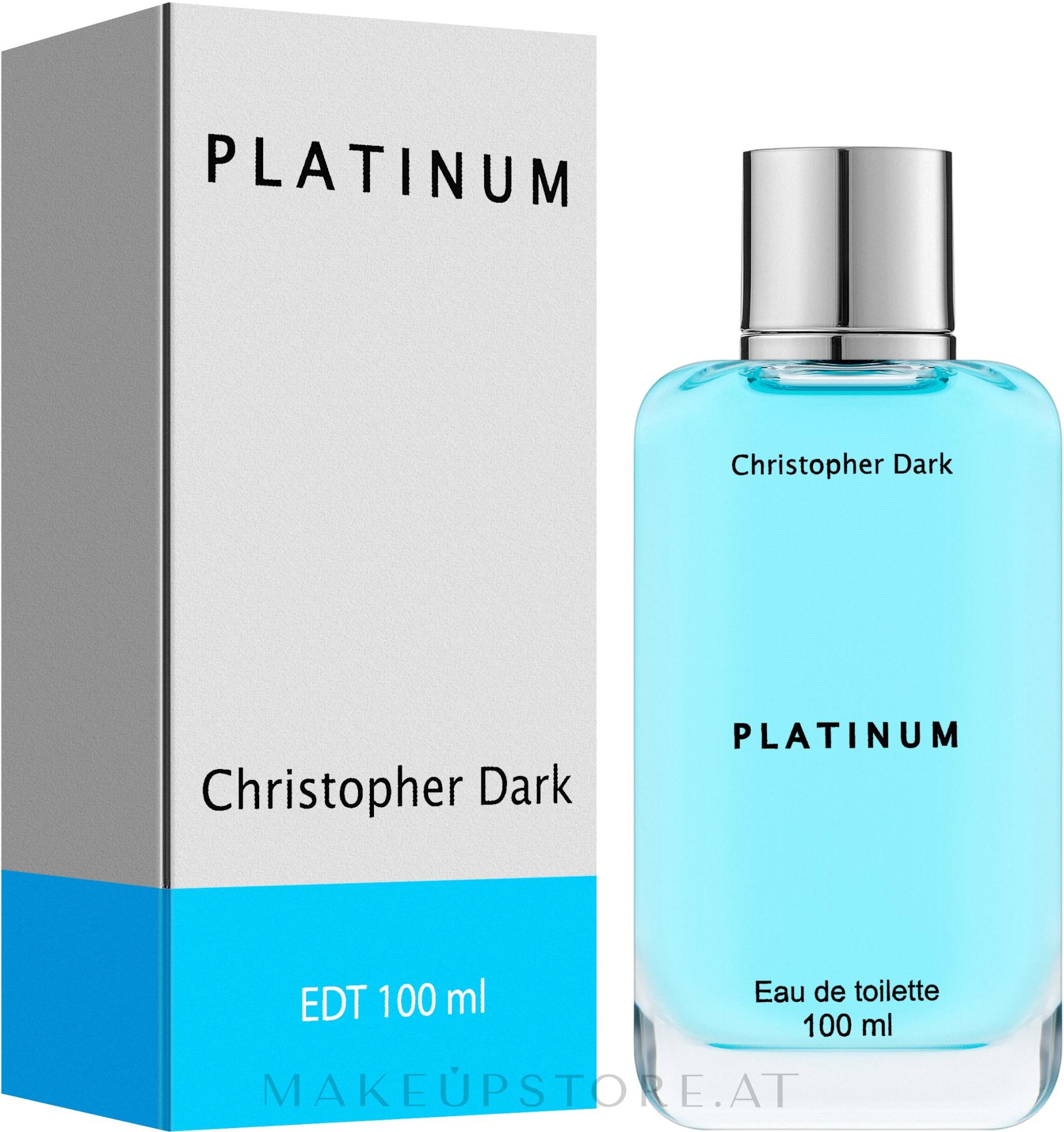 Christopher Dark Platinum - Eau de Toilette — Bild 100 ml