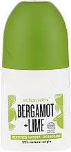 Düfte, Parfümerie und Kosmetik Natürliches Deo Roll-on - Schmidt's Bergamot + Lime Deo Roll-On