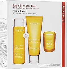 Düfte, Parfümerie und Kosmetik Körperpflegeset - Clarins Aroma Ritual Set (Badeschaum 200ml + Körperbalsam 200ml + Duftkerze 50g)