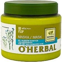 Düfte, Parfümerie und Kosmetik Maske mit Flachs-Extrakt für trockenes und strapaziertes Haar - O'Herbal
