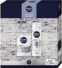 Düfte, Parfümerie und Kosmetik Gesichtspflegeset - Nivea Xmas Sensitive Recovery 2020 (Rasierschaum 200ml + After Shave Balsam 100ml)