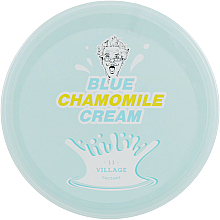 Düfte, Parfümerie und Kosmetik Beruhigende Gesichtscreme mit Kamillenblütenwasser, blauem Kamillenextrakt und Hyaluronsäure - Village 11 Factory Blue Chamomile Cream